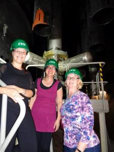 Jas, Sarah and Amy at Zwentendorf Nuclear Power Plant